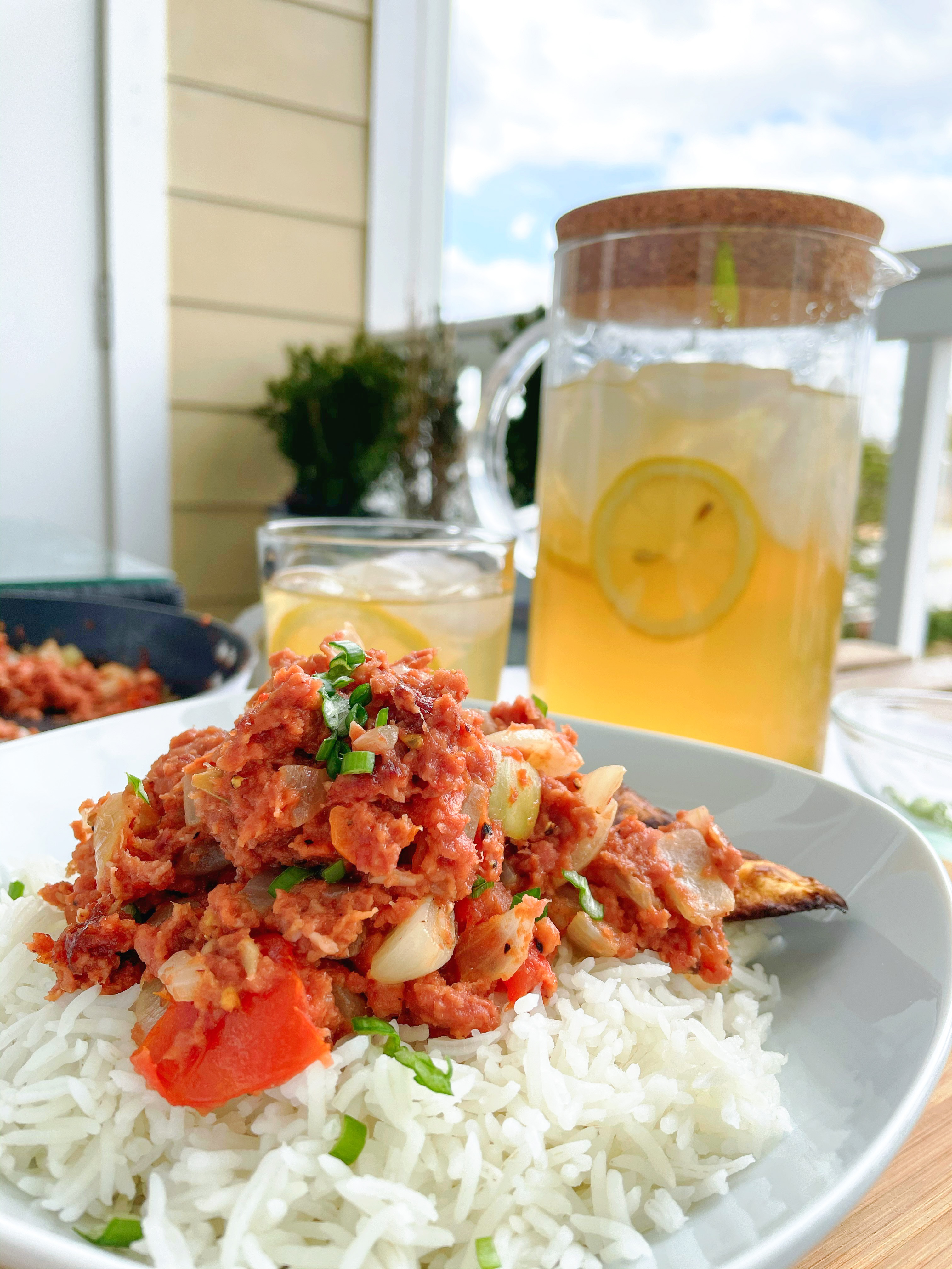 Jamaican Bully Beef and Rice