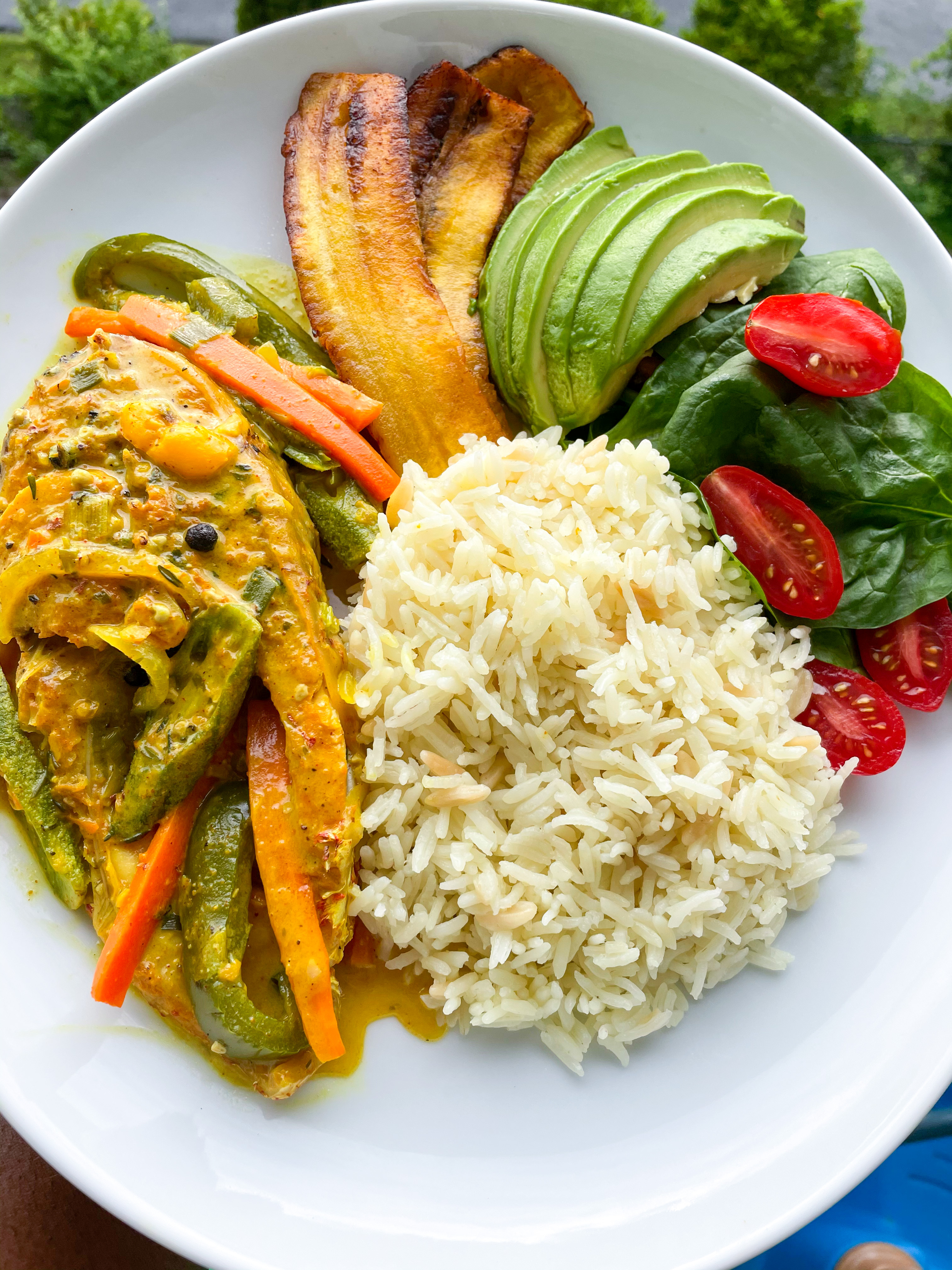 Coconut Curry Snapper Fish
