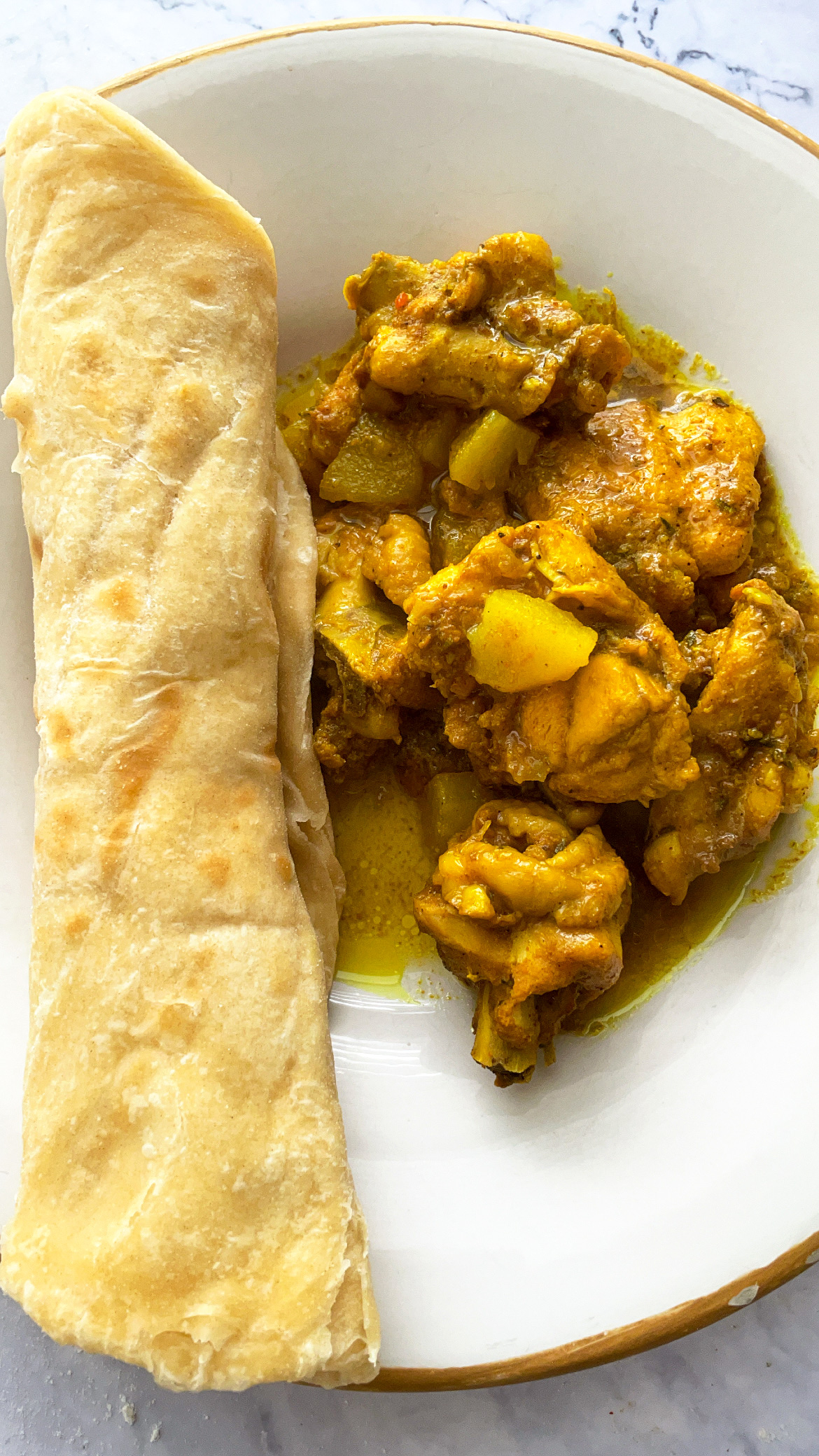 Curry Chicken and Roti